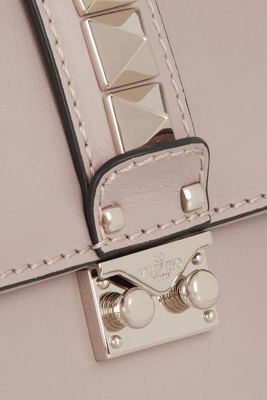 Valentino Lock mittelgroße Schultertasche aus Leder