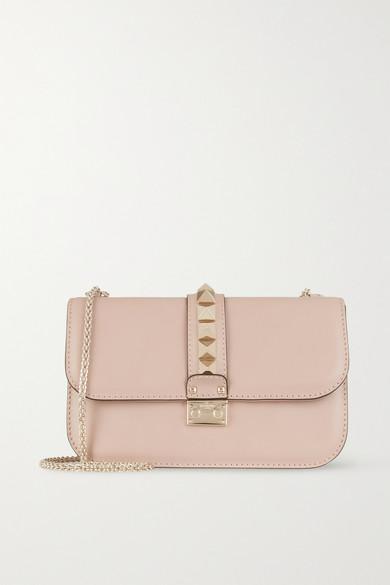 Valentino - Lock Medium Leather Shoulder Bag - Blush