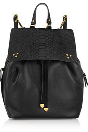 Jérôme Dreyfuss Florent textured-leather and python backpack