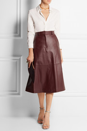 Pedro del Hierro Madrid Leather midi skirt