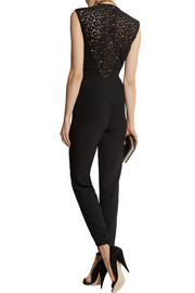 Pedro del Hierro Madrid Crepe and guipure lace jumpsuit