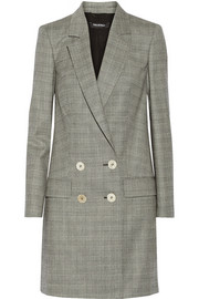 Pedro del Hierro Madrid Plaid stretch-wool coat
