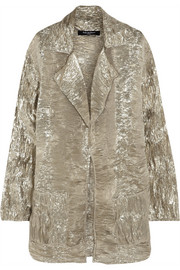 Pedro del Hierro Madrid Textured silk-blend lamé jacket