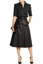 Pedro del Hierro Madrid Cropped wool-blend tweed jacket