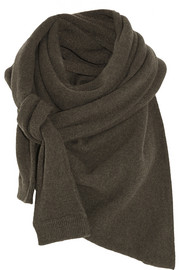 Christophe Lemaire Asymmetric yak and merino wool-blend scarf