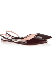 Rochas Patent-leather point-toe flats