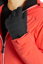 Leather-paneled padded shell gloves
