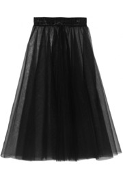 I.D. Sarrieri You're Next embellished tulle skirt