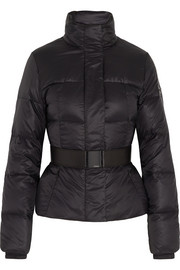 Belted quilted shell jacket