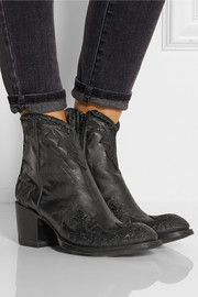 Mexicana Venice appliquéd leather ankle boots