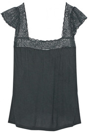 Eberjey Sloane lace-trimmed jersey pajama top