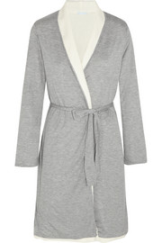 Eberjey Alpine Chic reversible fleece-lined cotton-jersey robe