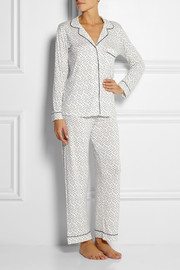 Eberjey Sleep Chic printed stretch-jersey pajama set