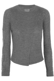Maiyet Wrap-effect cashmere sweater