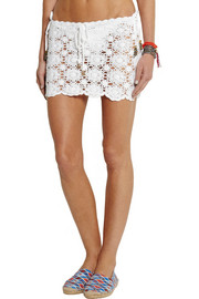 Melissa Odabash Amanda macramé cotton mini skirt