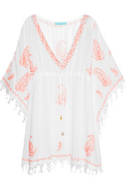 Sharize embroidered muslin kaftan