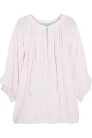 Ange embellished voile top