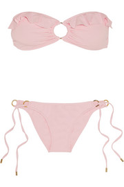 Greece ruffled bandeau bikini