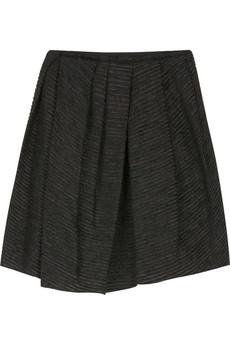 Marc JacobsEmbroidered taffeta pleated skirt