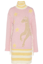 Ryan Lo Embellished mohair-blend sweater dress