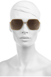 Cutler and Gross Square-frame gold-tone sunglasses