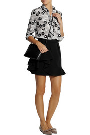 Holly Fulton Floral-print silk crepe de chine shirt