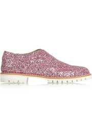 Finds + L' F Shoes Gipsy Ilga glitter-finished leather brogues