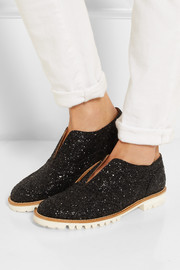 Finds + L'F Shoes Gipsy Ilga glitter-finished leather brogues