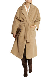 Isa Arfen Oversized brushed alpaca and mohair-blend coat