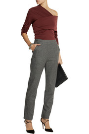 Isa Arfen Houndstooth wool straight-leg pants