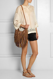 Finds + En Shalla beaded fringed leather shoulder bag