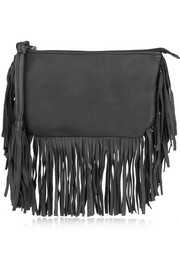 Finds + En Shalla fringed leather clutch