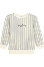 Finds + Wanderclad Darling striped cotton-blend sweatshirt