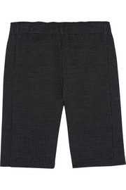 Stretch-knit jacquard cycling shorts