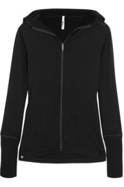 Merino wool-jersey hooded top