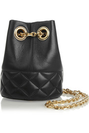 Finds + Delphine Delafon quilted leather shoulder bag