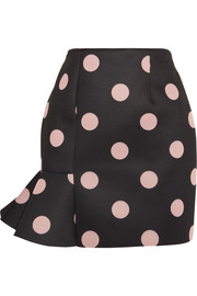 Finds + Vivetta Eva polka-dot neoprene mini skirt