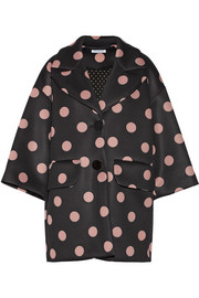 Finds + Vivetta Aurelio polka-dot neoprene coat