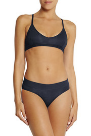 BASE Range Racer-back stretch-bamboo soft-cup bra