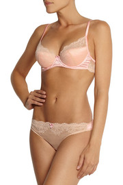 Mimi Holliday by Damaris Solero stretch-silk satin and lace underwired bra