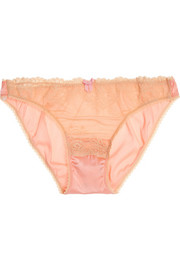 Solero stretch-silk satin and lace briefs