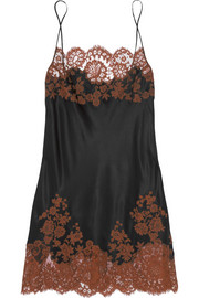 Julia lace-trimmed silk-satin chemise
