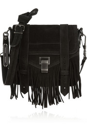 Proenza Schouler The PS1 Pouch fringed suede shoulder bag