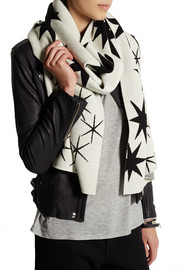 Matthew Williamson Star-intarsia merino wool scarf