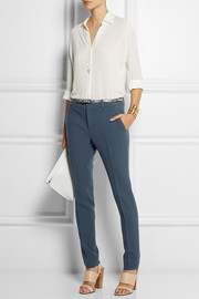 Gucci Stretch-wool crepe skinny pants