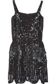 Anna Sui Sequin-embellished tulle dress