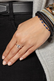 Pamela Love Mini Axis silver and sapphire ring