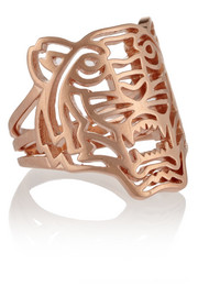 KENZO Tiger rose gold-plated ring