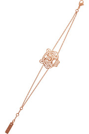 KENZO Tiger rose gold-plated cubic zirconia bracelet
