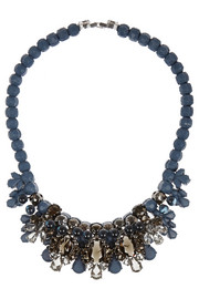 Ek Thongprasert Royale rhodium-plated, crystal and silicone necklace